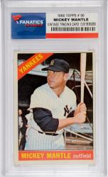Mickey Mantle New York Yankees 1966 Topps #50 Card - Mounted Memories