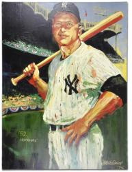 Mickey Mantle New York Yankees Unsigned 30'' x 40'' Giclee - by Malcolm Farley - Mounted Memories