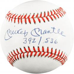 Mickey Mantle New York Yankees Autographed 392/536 Baseball PSA Graded 8.5