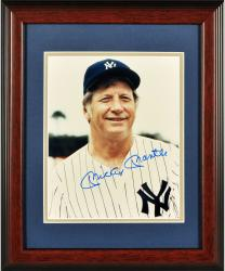 Mickey Mantle New York Yankees Autographed Framed 8'' x 10'' Fantasy Camp In Florida Photograph - Mounted Memories