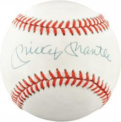 Mickey Mantle New York Yankees Autographed Baseball PSA Graded 9.0