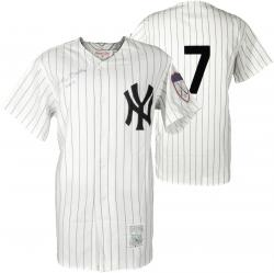 Mickey Mantle Autographed Mitchell & Ness New York Yankees #7 Jersey