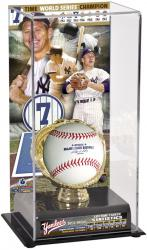 Mickey Mantle New York Yankees Gold Glove Baseball Display Case - Mounted Memories