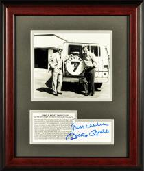 "Mickey Mantle New York Yankees Framed Autographed Carriage/7 Van 8"" x 10"" Photograph with Best Wishes Inscription"