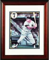 """Mickey Mantle New York Yankees Autographed Collage #7 8"""" x 10"""" Framed Photograph"""