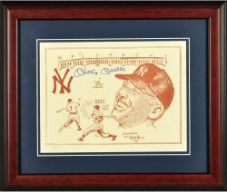 Mickey Mantle New York Yankees Framed Autographed Gallo 8'' x 10'' Photograph - Mounted Memories
