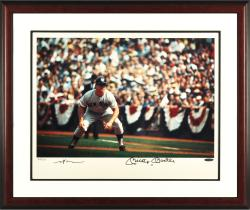 Mickey Mantle Framed Autographed Running Bases-Leifer 16'' x 20'' Framed Photograph