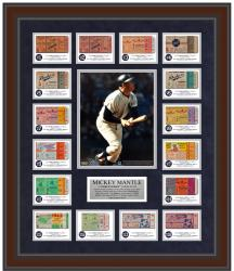 Mickey Mantle New York Yankees Home Run Ticket Framed 23'' x 27'' Collage - Limited Edition of 250 - Mounted Memories