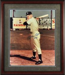 Mickey Mantle Autographed 16'' x 20'' Framed Photograph 1951 Spring Training