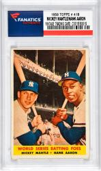 Mantle, Mickey/aaron, Hank (1958 Topps # 48) Card