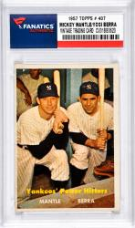 Mantle, Mickey/berra, Yogi (1957 Topps # 407) Card
