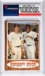 Mantle, Mickey/mays, Willie (1962 Topps # 18) Card
