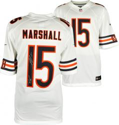 Brandon Marshall Chicago Bears Autographed White Nike Limited Jersey