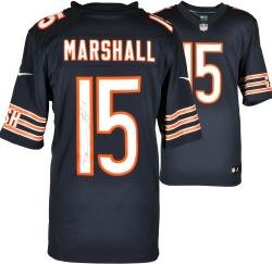 Brandon Marshall Chicago Bears Autographed Blue Nike Limited Jersey - Mounted Memories