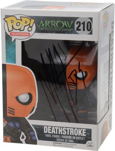 Manu Bennett Arrow Autographed #210 Deathstroke Funko Pop! - JSA