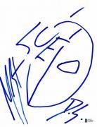 Arrow Manu Bennett Hand Drawn 8x11 Sketch Signed Authentic Autograph Beckett Bas
