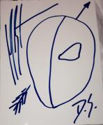 "Manu Bennett Signed Autograph Rare Original ""arrow"" Deathstroke Sketch Artwork"