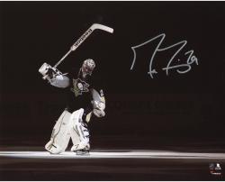 """Marc-Andre Fleury Pittsburgh Penguins Autographed Stick Salute 8"""" x 10"""" Photograph"""
