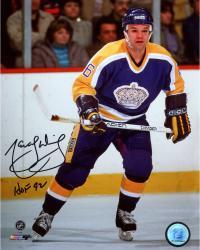 "Marcel Dionne Los Angeles Kings Autographed 8"" x 10"" Photograph with HOF 1992 Inscription"