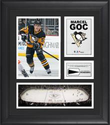 """Marcel Goc Pittsburgh Penguins Framed 15"""" x 17"""" Collage with Piece of Game-Used Puck"""