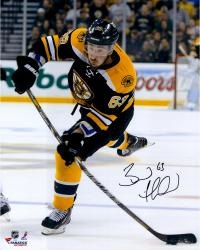 """Brad Marchand Boston Bruins Autographed 16"""" x 20"""" Vertical Shooting Photograph"""