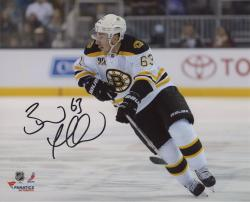 "Brad Marchand Boston Bruins Autographed 8"" x 10"" White Uniform Skating Photograph"