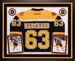 Brad Marchand Autographed Bruins Premier Jersey - Deluxe Framed