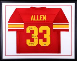 Marcus Allen USC Trojans Autographed Deluxe Framed Red Jersey with Multiple Inscriptions-#2-23 of a Limited Edition of 24