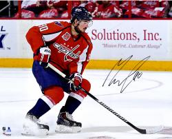 "Marcus Johansson Washington Capitals Autographed Red Jersey Stopping 16"" x 20"" Photograph"