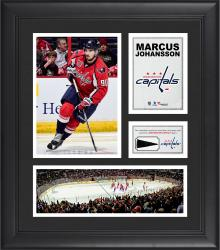 """Marcus Johansson Washington Capitals Framed 15"""" x 17"""" Collage with Piece of Game-Used Puck"""