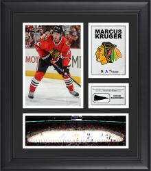 """Marcus Kruger Chicago Blackhawks Framed 15"""" x 17"""" Collage with Piece of Game-Used Puck"""