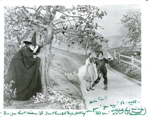 "MARGARET HAMILTON as MISS GULCH/Tht WICKED WITCH of the WEST in ""THE WIZARD of OZ"" Passed Away 1985 - Signed 10x8 B/W Photo - Inscribed to a Fan"