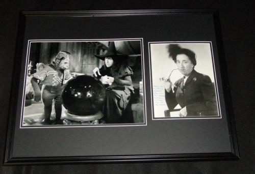 Margaret Hamilton Signed Framed 18x24 Photo Display Wizard of Oz Wicked Witch