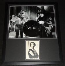 Margaret Hamilton Signed Framed Wizard of Oz Wicked Witch Photo Display JSA