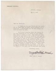 Margaret Mitchell Signed Auto Letter w/ Gone with the Wind Content! PSA/DNA LOA