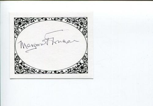 Margaret Truman Harry Daughter First Family & Author Signed Autograph Bookplate