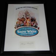 Marge Champion Signed Framed 11x14 Photo Display Snow White