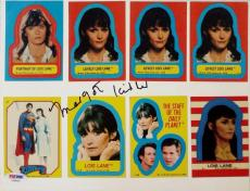 Margot Kidder Lois Lane Signed 1980 Topps Superman The Movie Trading Cards PSA