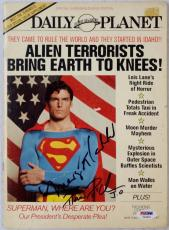 MARGOT KIDDER MARK McCLURE Dual Signed Daily Planet Superman II Magazine PSA