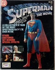 Margot Kidder Sarah Douglas Jack O'Halloran McClure Signed Superman Magazine PSA