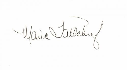 Maria Tallchief Signed - Autographed 3x5 inch Index Card - America's 1st major prima Ballerina - Deceased 2013 - Guaranteed to pass PSA/DNA or JSA