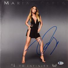 Mariah Carey Autographed #1 To Infinity Album Cover - Beckett COA