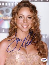 """Mariah Carey Autographed 8""""x 10"""" Blockbuster Entertainment Awards Photograph - PSA/DNA COA"""