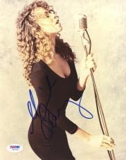"Mariah Carey Autographed 8""x 10"" Holding Microphone Photograph - PSA/DNA COA"