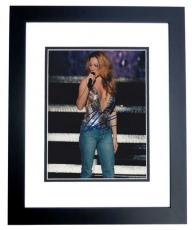 Mariah Carey Autographed 8x10 Concert Photo BLACK CUSTOM FRAME