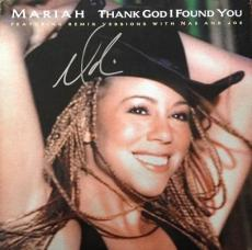 Mariah Carey Autographed THANK GOD I FOUND YOU Record LP Album Cover