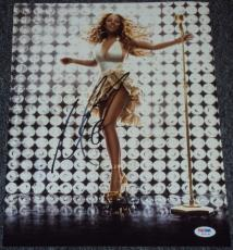 Mariah Carey Signed Autograph Sexy Legs Busty Babe 11x14 Photo Psa/dna W55738