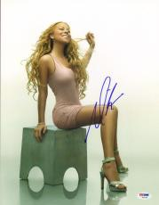 MARIAH CAREY Signed Autographed 11x14 Photo PSA/DNA #AB15109