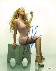 MARIAH CAREY Signed Autographed 11x14 Photo PSA/DNA #AB68390