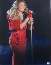Mariah Carey Signed Autographed Huge 16X20 Photo Gorgeous Sexy Red Dress 788708